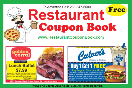 Restaurant food coupons